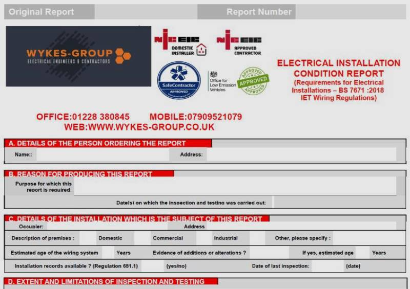 Electrical Installation Condition Reports in Carlisle, Cumbria